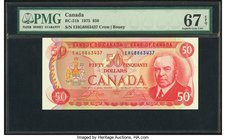 Canada Bank of Canada $50 1975 BC-51b PMG Superb Gem Unc 67 EPQ.   HID09801242017