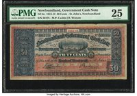 Canada, St. John's- Government of Newfoundland 50 Cents 1912-13 NF-8c PMG Very Fine 25.   HID09801242017