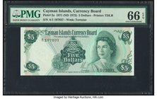 Cayman Islands Currency Board 5 Dollars 1971 (ND 1972) Pick 2a PMG Gem Uncirculated 66 EPQ.   HID09801242017