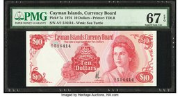 Cayman Islands Currency Board 10 Dollars 1974 (ND 1981) Pick 7a PMG Superb Gem Unc 67 EPQ.   HID09801242017