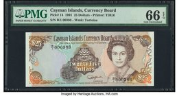 Cayman Islands Currency Board 25 Dollars 1991 Pick 14 PMG Gem Uncirculated 66 EPQ.   HID09801242017