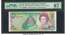 Cayman Islands Monetary Authority 50 Dollars 2003 (ND 2007) Pick 32b PMG Superb Gem Unc 67 EPQ.   HID09801242017