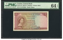 Ceylon Central Bank of Ceylon 2 Rupees 3.6.1952 Pick 50 PMG Choice Uncirculated 64 EPQ.   HID09801242017