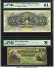 Costa Rica Banco Anglo Costarricense 10 Colones 1.1.19xx Pick S123r Remainder PMG Choice Uncirculated 64. Mexico Banco Minero 1 Peso 1888 S162a M130a ...