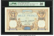 France Banque de France 1000 Francs 10.12.1931 Pick 79b PMG Very Fine 30. Staple holes.  HID09801242017