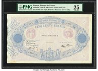 France Banque de France 500 Francs 23.3.1939 Pick 88c PMG Very Fine 25. Pinholes.  HID09801242017