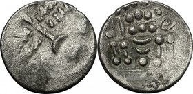 Celtic World.Britain, Durotriges.BI Stater, c. 65 BC - 45 AD.D/ Devolved head of Apollo right.R/ Disjointed horse left; pellets above, pellet in lozen...