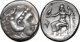"Continental Greece.Kings of Macedon.Alexander III ""the Great"" (336-323 BC).AR Tetradrachm, Amphipolis mint, 314-310 BC.D/ Head of Heracles right, wear..."