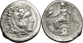 "Continental Greece.Kings of Macedon.Alexander III ""the Great"" (336-323 BC).AR Drachm, Miletos mint, struck under General Philoxenos, 325-323 BC.D/ Hea..."