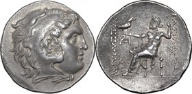 "Continental Greece.Kings of Macedon.Alexander III ""the Great"" (336-323 BC).AR Tetradrachm, Odessus mint, 228-210 BC.D/ Head of Heracles right, wearing..."