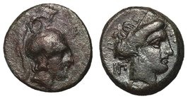 Thessaly, Gyrton, 340 - 330 BC, AE Dichalkon, ex BCD Collection