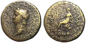 Nero, 54 - 68 AD, Sestertius, Roma Seated
