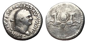 Divus Vespasian, Issue by Titus, 80 - 81 AD, Two Capricorns