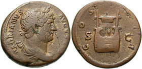 Hadrian, 117 - 138 AD, AE As, Lyre