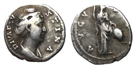 Faustina Sr., after 146 AD, Silver Denarius, Ceres