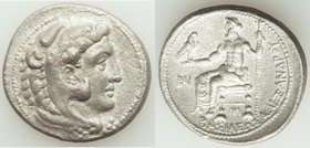 MACEDONIAN KINGDOM. Alexander III the Great (336-323 BC). AR tetradrachm (28mm, 16.60 gm, 10h). Choice VF. Lifetime issue of Cilicia, Myriandrus, ca. ...