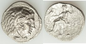 MACEDONIAN KINGDOM. Alexander III the Great (336-323 BC). AR tetradrachm (27mm, 15.84 gm, 10h). Fine, porosity. Late lifetime issue of Sidon, dated Ci...