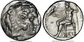 MACEDONIAN KINGDOM. Philip III Arrhidaeus (323-317 BC). AR tetradrachm (25mm, 11h). NGC VF, brushed. Lifetime issue of Sidon, dated Regnal Year 13 of ...