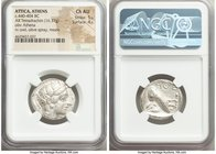 ATTICA. Athens. Ca. 440-404 BC. AR tetradrachm (24mm, 16.77 gm, 9h). NGC Choice AU 5/5 - 4/5. Mid-mass coinage issue. Head of Athena right, wearing cr...