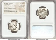 ATTICA. Athens. Ca. 440-404 BC. AR tetradrachm (24mm, 17.19 gm, 8h). NGC Choice XF S 5/5 - 5/5. Mid-mass coinage issue. Head of Athena right, wearing ...