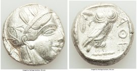 ATTICA. Athens. Ca. 440-404 BC. AR tetradrachm (24mm, 17.14 gm, 1h). Choice VF. Mid-mass coinage issue. Head of Athena right, wearing crested Attic he...