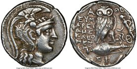 ATTICA. Athens. Ca. 2nd-1st centuries BC. AR tetradrachm (28mm, 16.79 gm, 12h). NGC Choice VF 5/5 - 4/5. New Style coinage, ca. 113/12 BC, 4th month. ...
