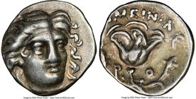 CARIAN ISLANDS. Rhodes. Ca. 230-205 BC. AR hemidrachm (12mm, 12h). NGC Choice VF. Ameinias, magistrate. Facing head of Helios, turned slightly right, ...