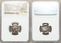 LYCIAN DYNASTS. Kherei (ca. 440-410/390 BC). AR stater (20mm, 8.37 gm, 9h). NGC AU 5/5 - 2/5, Fine Style. Telmessus mint. Head of Athena right, wearin...