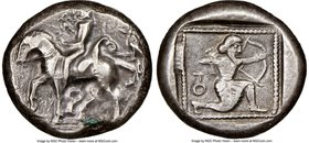 CILICIA. Tarsus. Ca. late 5th century BC. AR stater (19mm, 9.51 gm, 12h). NGC Choice VF 4/5 - 4/5. Satrap on horseback riding left, reins in left hand...