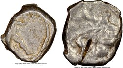 CYPRUS. Citium. Azbaal (ca. 449-425 BC). AR stater (21mm, 3h). NGC VG, test cut. Heracles in fighting stance right, nude but for lion skin around shou...
