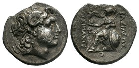 KINGS of THRACE.Lysimachos (305-281 BC). Lampsakos mint. AR Tetradrachm.