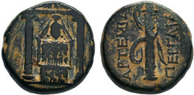 PAMPHYLIA.PAMPHYLIA.Perge 50-30 BC. AE Bronze.