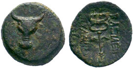 KINGS OF PAPHLAGONIA. Pylaimenes II/III Euergetes Circa 133-103 BC. AE Bronze.