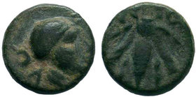 IONIA. Ephesos. 4th century BC. AE Bronze.