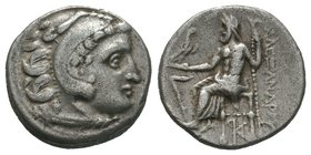 Alexander III the Great (336-323 BC). AR Drachm  Condition: Very Fine   Weight:4,11gr  Diameter:17mm From Coin Fair before 1980's