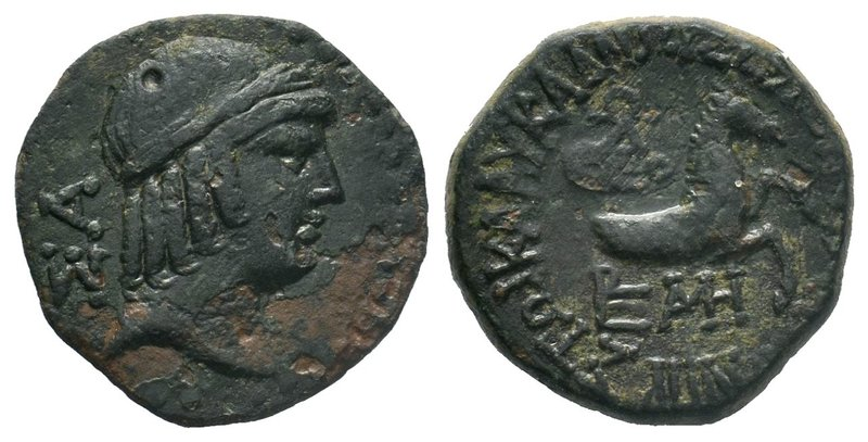 CILICIA. Seleukeia ad Kalykadnon. Ae (2nd century BC). Obv: ΣY. Laureate head of...