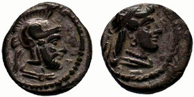 Cilicia, Satraps AR Obol. Datames, satrap of Cappadocia. Tarsos, 378-372 BC. Diademed head of female (Aphrodite?) right / Helmeted head of male (Ares?...