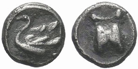 CILICIA, Mallos. 385-333 BC. AR Obol. Astragalos / Swan left with open wings. SNG Levante 165 (this coin); SNG France 385; BMC Lycaonia -; SNG Copenha...