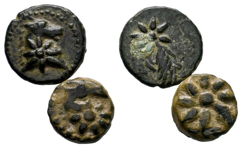 2X PONTOS. Uncertain. Ae (Circa 130-100 BC).Obv: Head of horse right; star on ne...