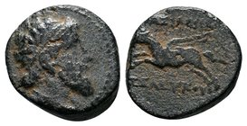 SELEUKID EMPIRE. Seleukos II Kallinikos. 246-225 BC. Æ (15.5mm, 3.80 g, 12h). 'ΔΕΛ monogram' mint, associated with Antioch. Struck circa 228 BC. Beard...