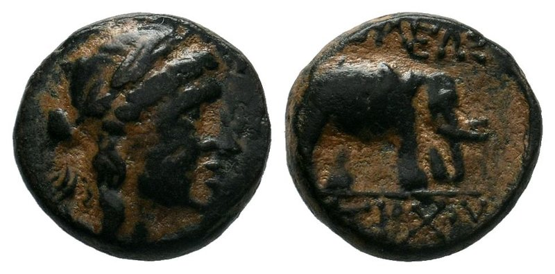 SELEUKID KINGS of SYRIA. Antiochos III. 223-187 BC. Æ. Sardes mint. Laureate hea...