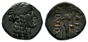 SELEUKID KINGS of SYRIA. 223-187 BC. Æ, Uncertain,  Condition: Very Fine  Weight:3.11gr  Diameter:15mm From a Private UK Collection.