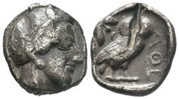 Attica. Athens 420-405 BC. Tetradrachm AR,
