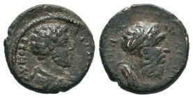 BITHYNIA, Nicaea. Commodus. AD 177-192. Æ, Bareheaded, draped, and cuirassed bust right / Draped bust of Homer right, wearing taenia. RPC IV (Online) ...