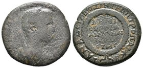 CILICIA, Anazarbus. Elagabalus. AD 218-222. Æ Hexassaria . Dated CY 240 (AD 221/2). Diademed and draped bust of Elagabalus, as demiourgos, right / Leg...