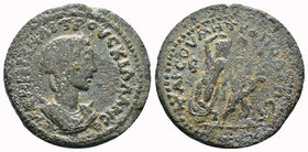 CILICIA. Tarsus. Herennia Etruscilla (Augusta, 249-251). AE.Obv: ANNIAN AITROVCKIΛΛΑ CЄ. Diademed and draped bust right.Rev: TAPCOV MHTPOΠOΛЄΩC Γ / Β ...