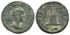 CILICIA. Philadelphia. Commodus (177-192). Ae. Obv: ΑVΤ Κ Μ ΑVH (sic) ΚΟΜΜΟΔ СЄΒ. Laureate head right. Rev: ΦΙΛΑΔЄΛΦЄωΝ ΤΗС ΚΗ. Zeus seated left on th...