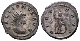Gallienus, 253-268. Antoninianus. Antiochia, 263-264. GALLIENVS AVG Radiate, draped and cuirassed bust of Gallienus to right, seen from behind. Rev. V...