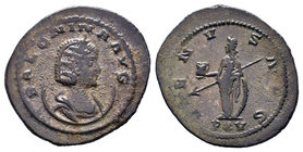 Salonina. Augusta, AD 254-268. Antoninianus. Antioch mint. 15th emission, circa AD 266-268. Draped bust right, wearing stephane, set on crescent / Ven...