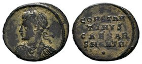 Constantine II (Caesar, 316-337). Æ Follis. Antioch, 324-5. Laureate, draped and cuirassed bust l. R/ CONSTAN / TINVS / CAESAR / SMANTH in four lines;...
